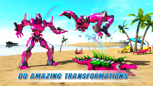 Real Robot Crocodile Simulator- Robot transform 1.0.12 screenshots 7