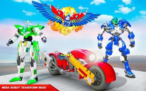 Flying Police Eagle Bike Robot Hero: Robot Games 30 Screenshots 5