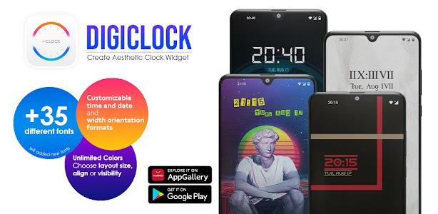 DigiClock: Customize Aesthetic Clock Widget 1.0