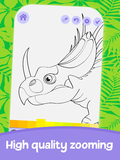 Cute Animated Dinosaur Coloring Pages 4.4 screenshots 4