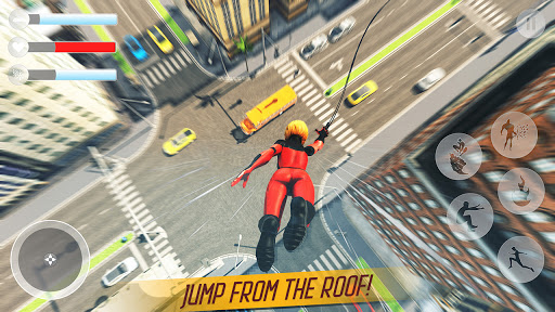 Rope Superhero War : Superhero Games : Rescue Hero 1.0 Screenshots 3