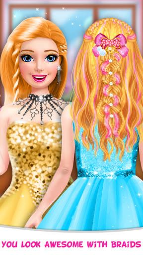 Braided Hairstyle Salon: Make Up And Dress Up  screenshots 3