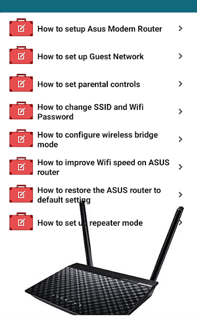 Captura 5 de Asus Modem Router Guide para android