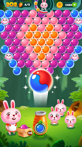 Bubble Bunny: Animal Forest Shooter apkpoly screenshots 4