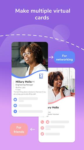 HiHello: Digital Business Card Maker and Organizer android2mod screenshots 4
