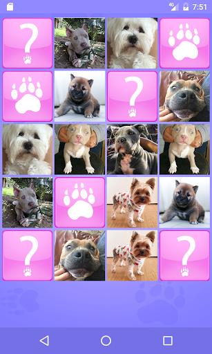 cute dogs memory matching game screenshot 1