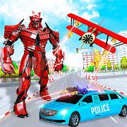 Limo Robot Car Transformation: Car Robot Games