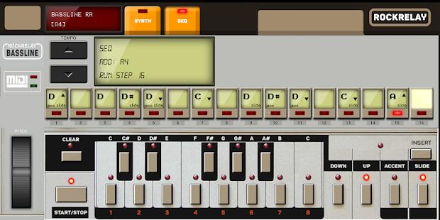 Synthesizer TB 303 Bassline Screenshot