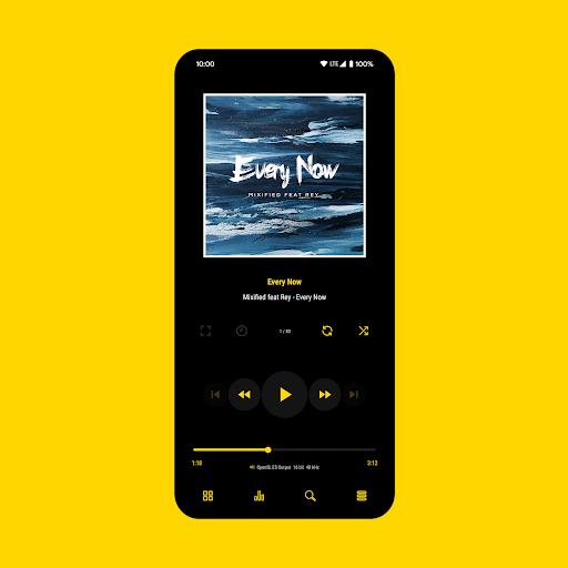 Download APK: Luminous Black – Poweramp v3 Skin v5.7 [Paid]