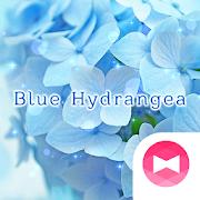 Flower Wallpaper Blue Hydrangea Theme