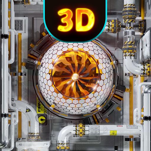 Cyberpunk 3D Wallpaper & Custom Keyboard - Sci Fi