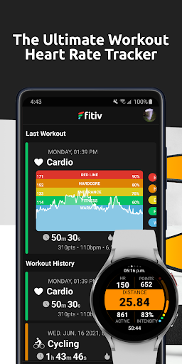 FITIV Pulse: Heart Rate Monitor + Workout Tracker android2mod screenshots 1