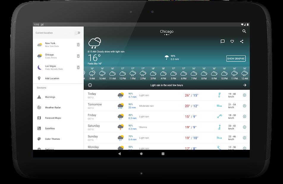 Weather Forecast 14 days - Meteored News & Radar Android App Screenshot