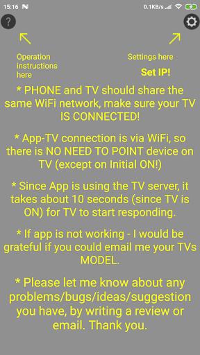 Remote SAMSUNG TV(until 2015)WiFi Simple No button  Screenshots 1