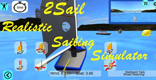3d sailing simulator, 2sail, screenshot 1