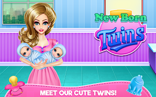 New Born Twins Caring