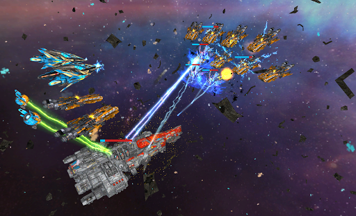 Space Ships WAR: Unique TD Battles apkpoly screenshots 7