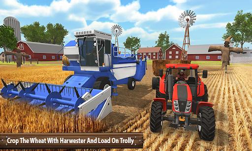 Organic Tractor Farming SIM: Mega Harvesting apktreat screenshots 2