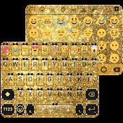 Gold Glitter Emoji Keyboard  Icon