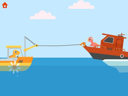 Dinosaur Patrol Boat - Coast Guard Games for kids apkmr screenshots 9