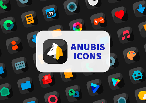 Download APK: Anubis Black – Icon Pack v1.9 [Patched]