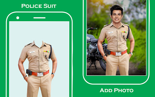 Men police suit photo editor  screenshots 1