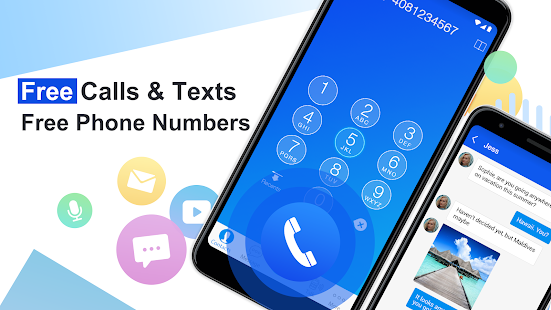 Free phone calls, free texting SMS on free number Screenshot