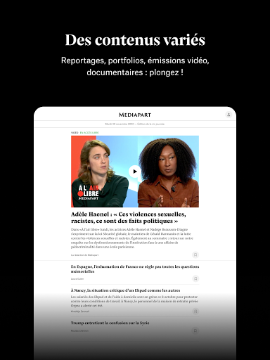 Mediapart, journal indu00e9pendant  Screenshots 5
