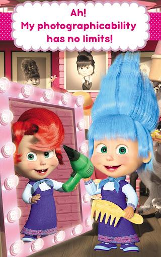 Masha and the Bear: Hair Salon and MakeUp Games apkpoly screenshots 21