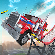 App Icon for Stunt Truck Jumping App in India Play Store