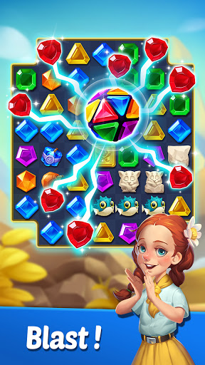 Gems Voyage - Match 3 & Jewel Blast apktreat screenshots 2