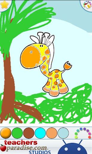 Jungle Animals Coloring Book screenshots 2