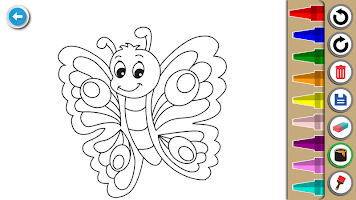 Kids Coloring Book : Cute Animals Coloring Pages