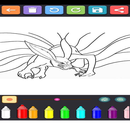 Coloring Ninja Konoha  screenshots 7