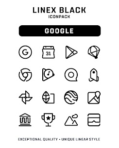 LineX Black Icon Pack Apk 1.1 (Patched) 2