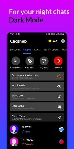 Chathub - Random chat, Stranger chat app no login Apkfinish screenshots 6