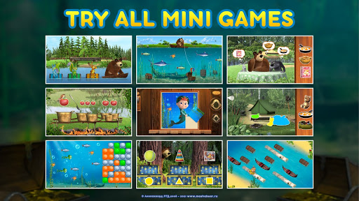 Masha and the Bear: Kids Learning games for free 1.0.35 screenshots 2