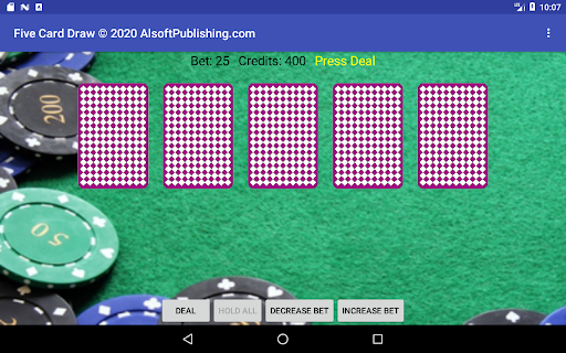 Five Card Draw Poker  screenshots 22