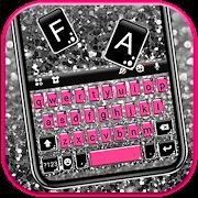 Pink Silver Glitter Keyboard Background