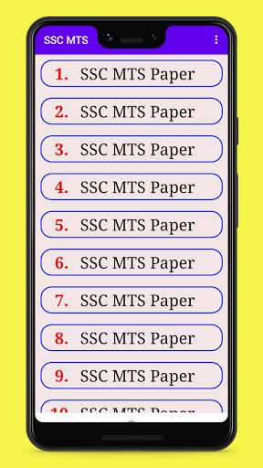 SSC MTS Previous Year Paper in Hindi offline 2021 1.3 screenshots 1
