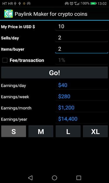 PayLink Maker for crypto currency coins screenshot 18