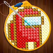 Knitting String Art - Crossstitch & cross color