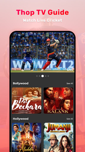 Thop TV : Free Thoptv Live IPL Cricket Guide 2021 screen 0