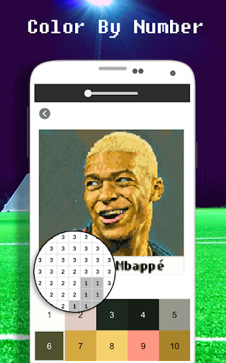 Football Player Coloring By Number - Pixel apkdebit screenshots 2