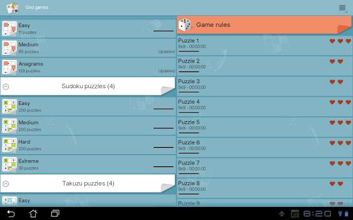 Grid games (crossword & sudoku puzzles) 2.5.5 screenshots 8