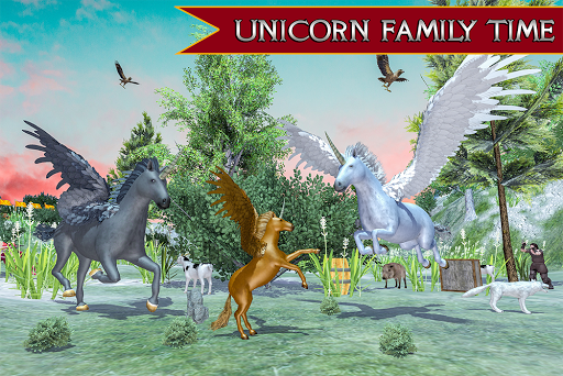 Flying Unicorn Horse Family Jungle Survival android2mod screenshots 13