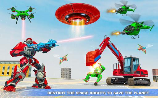 Excavator Robot Car Game u2013 Elephant Robot Games 3d 1.1.9 screenshots 3