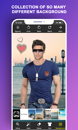 Man T-Shirt Suit Photo Editor modavailable screenshots 4
