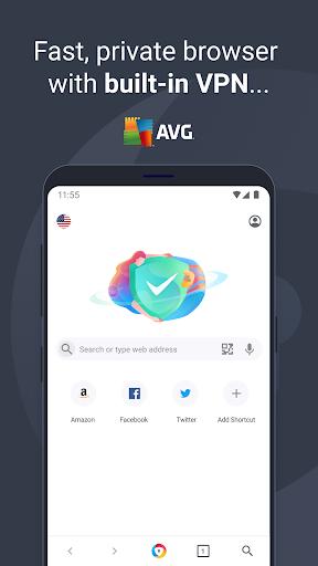 AVG Browser: Fast Browser + VPN & Ad Block 4.0.52 Screenshots 1