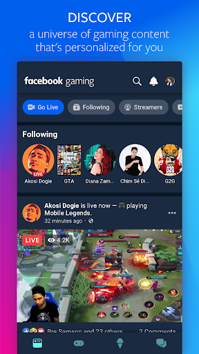 Facebook Gaming: Watch, Play, and Connect 125.1.0.45.117 screenshots 1
